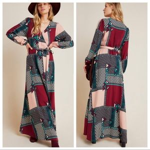 NWT Anthropologie Virginia Wrap Maxi Dress